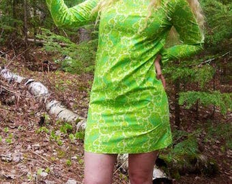 Psychedelic 1970s Mod Dress