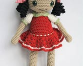 PATTERN - Gipsy girl Anita - amigurumi crochet pattern, PDF (English, Dutch)