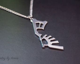 Wayward Wind - Kingdom Hearts Keyblade necklace