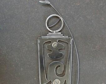 Primitive Metal Sculpture, Shaman, Indoor Outdoor Metal Sculpture, Southwestern Sculpture, Metal Garden Art, Garden Sculpture