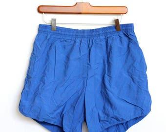 Blue Soffe Swimming Trunks Shorts Mens Medium / Large Unisex Womens 26 28 29 30 32 33 34 Royal Blue Track Shorts