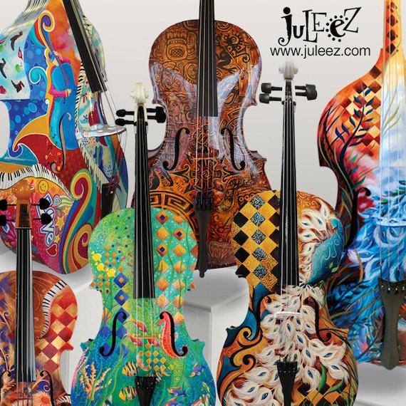 Colorful Cello Hand Pa...