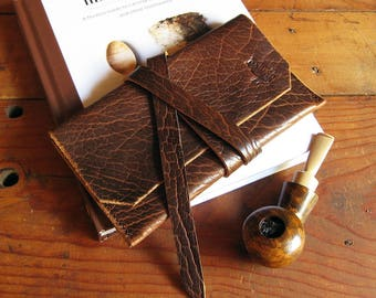 Leather Tobacco Pipe Pouch * Whiskey Bison Leather * Ready to Ship! * Pipe Pouch * Pipe Roll * Pipe Bag