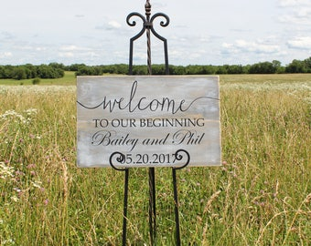Rustic wedding welcome sign/personalized wedding welcome sign/wood wedding welcome sign/welcome sign/personalized wedding sign/wooden sign