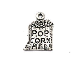 Popcorn Pewter Charm -1