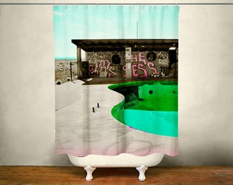 Urbex Shower Curtain Colorful Bathroom Decor Graffiti Pop Art
