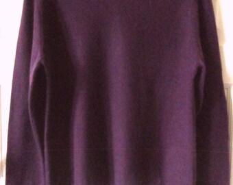 Purple Cashmere Sweater L