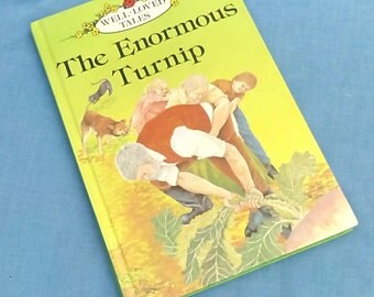 Vintage Ladybird Book The Enormous Turnip - Series 606D Well- loved Tales Grade 1 - 1980s - Glossy Covers