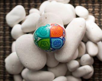Avatar The Last Airbender Legend Of Korra Element Symbol Painted Rock