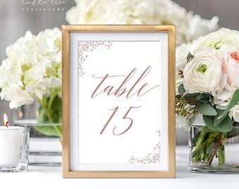 Reception Table Numbers - Vintage Ornamental 3