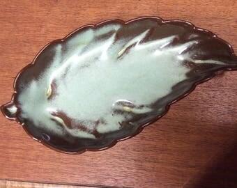 Frankoma Pottery Leaf Dish #225