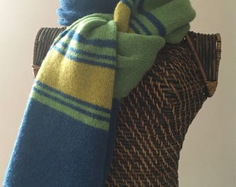 Knitted woollen scarf - Scottish pure new wool