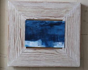 Small Seascape - Original Abstract Painting - Blue - Ocean - Waters