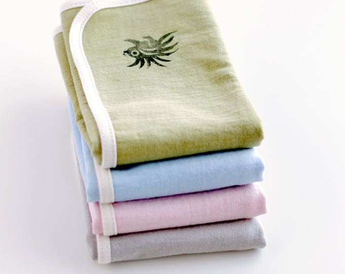 Security Blanket in Naturally Died Organic Cotton
