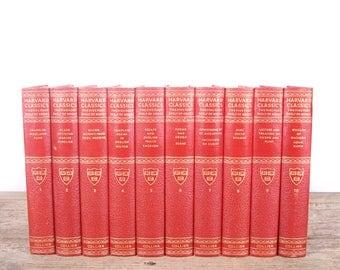 1937 Harvard Classics Book Set / 10 Volume Set / Collier & Son / Old Antique Black Books / Antique History Books / Old Books Vintage Books