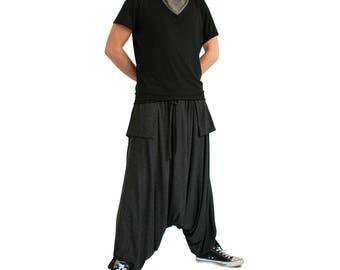 Men harem pants/ Drop crotch pants/ Loose pants/ Workout pants/ Loose sweatpants/ Baggy pants/ Yoga pants plus size/ Men festival pants