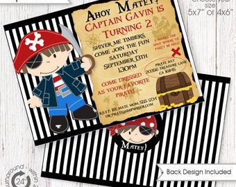 Pirate Invitation DIGITAL files only - Pirate Invite | Printables | Little Printable Invitation | Pirate Party