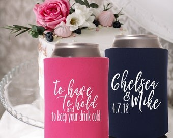 to have to hold drink cooler | keep your beer cold | Wedding Favors | Personalized Wedding Can Cooler | FREE Shipping