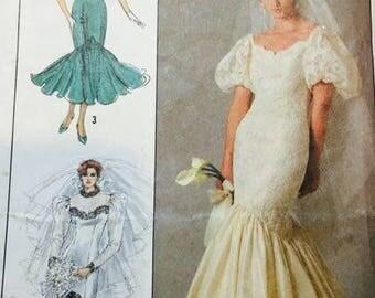 Simplicity 8425 Wedding Dress 1987