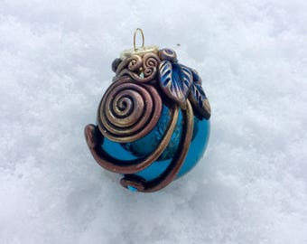 MOON SPIRAL Polymer Clay Glass Ornament