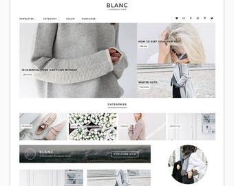 "Wordpress Theme, Wordpress Ecommerce Theme Responsive Blog Theme Design ""Blanc"" - Genesis Website Theme"