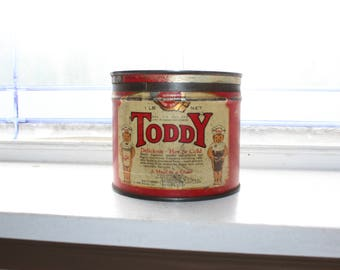 Vintage Toddy Tin A Meal In A Glass 1920s
