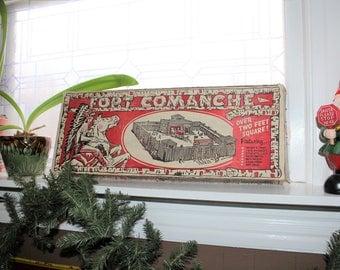 Fort Comanche Playset T Cohn Vintage 1960s Toy
