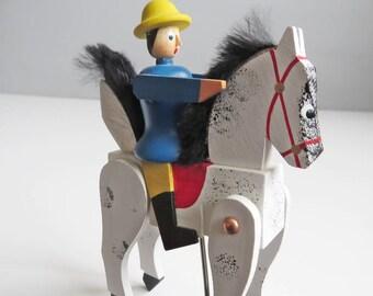 Erzgebirge Rocking Horseman - Modern Vintage Erzgebirge