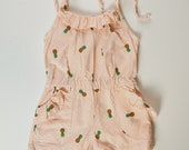 2T Pineapple Print Romper with Pockets