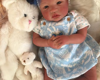 From the Biracial Shyann Kit  Reborn Baby Doll 19 inch Baby Girl Myra Complete Baby Doll