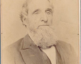 CDV Portrait of a Distinguished Long Bearded  Gentleman From the Southbridge Massachusetts Area