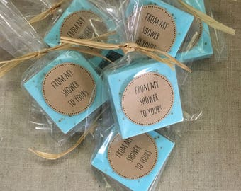 25 Soap Favors, Wedding Shower Favors or Baby Shower Favors, Soap Favors, Guest size soap 2 oz