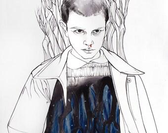 Stranger Things Fine Art Print: Eleven