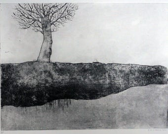 Etching, Tree in Winter