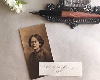Genealogy Handwritten Photograph Labels Photo Album