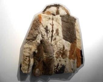 Fur Coat Men/ Fur Coats For Sale/ Fur Coat Small/ Boho Fur Coat/ Hippie Fur Coat/ Brown Fur Coat/ Festival Fur Jacket/ Festival Fur Coat