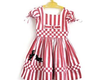 Girls Dress, Girls Vintage Dress, 1950s Girls Dress, Girls Summer Dress