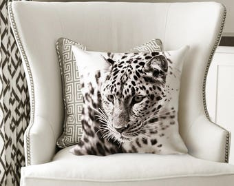 Leopard Throw Pillow - Home Decor - Square Pillow 18x18