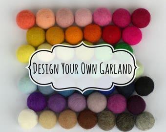 Design Your Own Felt Ball Garland