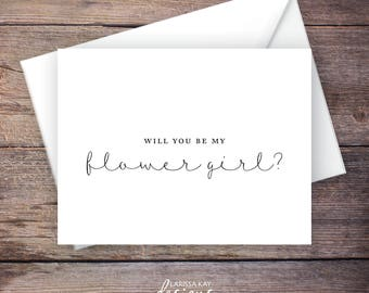 Will You Be My Flower Girl Wedding Card, Printable, Instant Download Greeting Card - Will You Be My Flower Girl, Wedding Card – Brynley