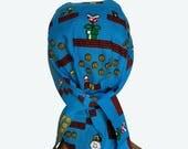 Biker Dorag  - super Mario Bros skully - doo-rag with pocket - Unisex Do Rag