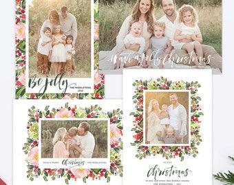 Christmas Card Templates, Christmas Photo Cards, Christmas Photography Templates, Christmas Card Printable, Holiday Photo Cards HC30912