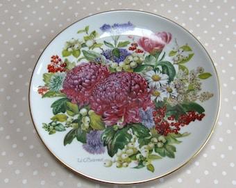 Winterdammerung - Winter Twilight Collectable Plate 1988 Hutschenreuther Flowers Floral 4246b - David