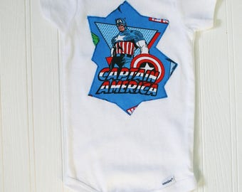 Baby's Captain America onesie. Size 12 months.  Ready to ship.