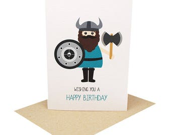 Birthday Card Boy - Viking - HBC245 / Wishing you a Happy Birthday for the Birthday Boy