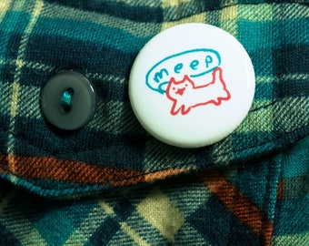 BUTTONS — lil meeper! pinback badge