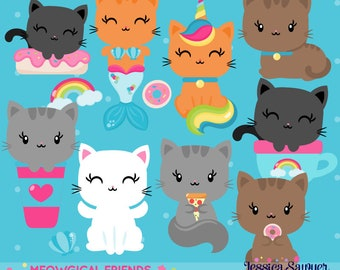 INSTANT DOWNLOAD, cat clipart for planner stickers, crafts, and projects
