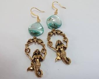 Swinging Mermaid Earrings