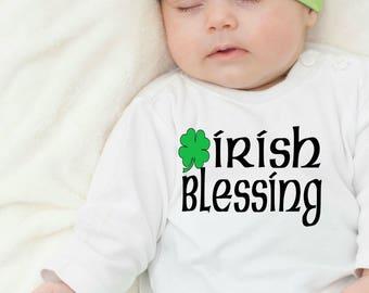 St Patricks Day Baby, Irish Baby, Irish Blessing, Irish Onesie, Saint Patricks Day, Baby Shower Gift, New Baby Gift, Green Baby Shirt