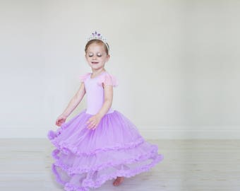 Rapunzel Dress - pettiskirt dress couture Tangled inspired princess dress